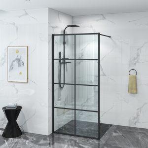 Douchewand mat zwart New York Luxuryline 120 x 200