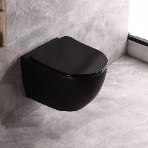wandcloset rimless mat zwart