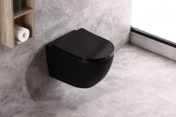 Hangend toilet mat zwart