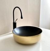 Waskom goud zwart